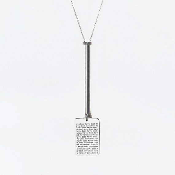collier-tube-party-lines-good-karma-military-argent-massif-perle-de-jade
