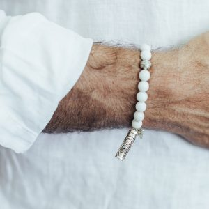 Bracelet quartz blanc The Party line