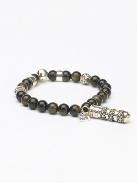The Party Line Bracelet Obsidienne