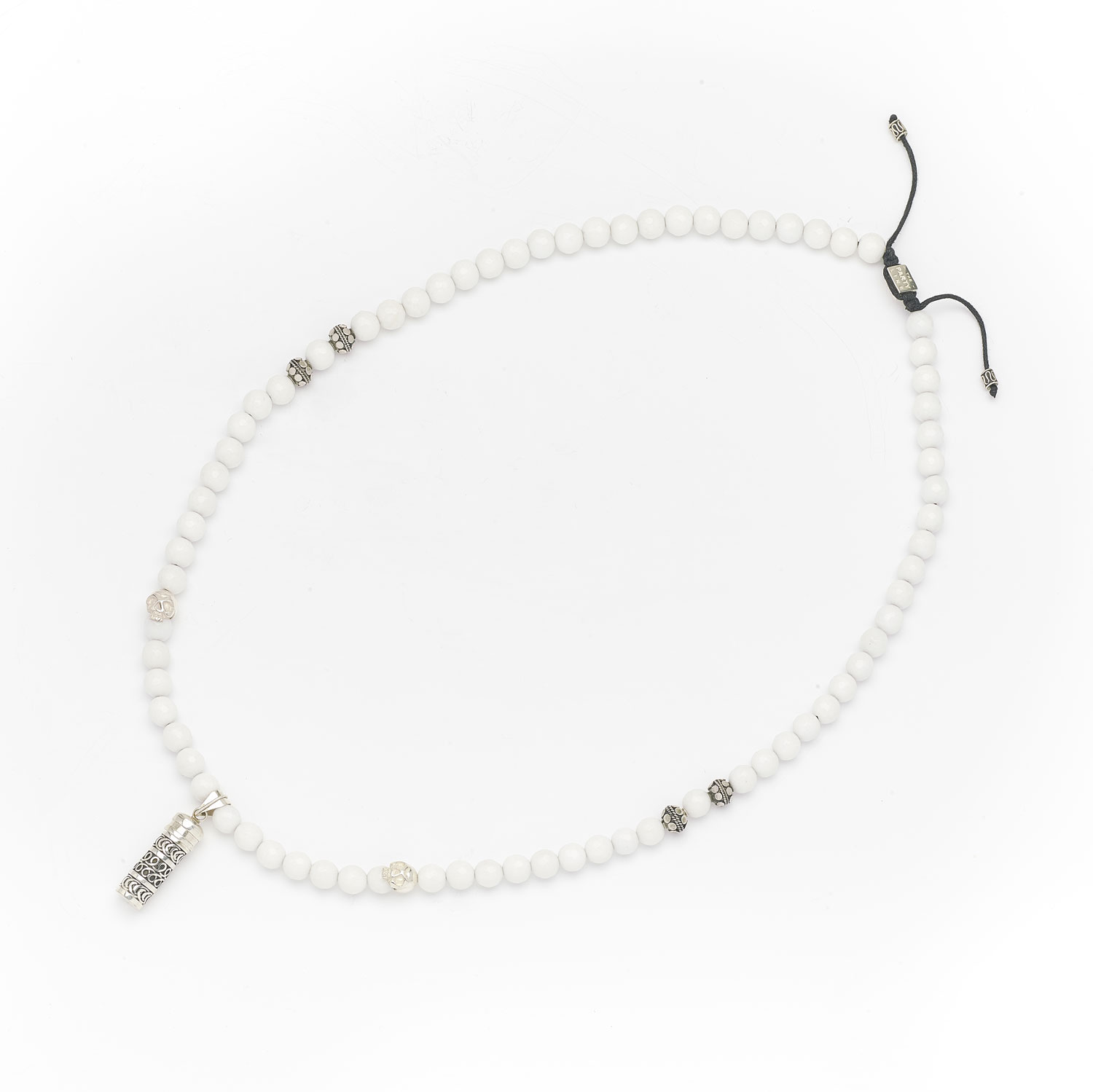 Collier quartz blanc homme Secret Box The Party Line